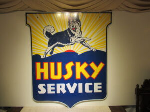 Antique Husky Service Shield 54x54