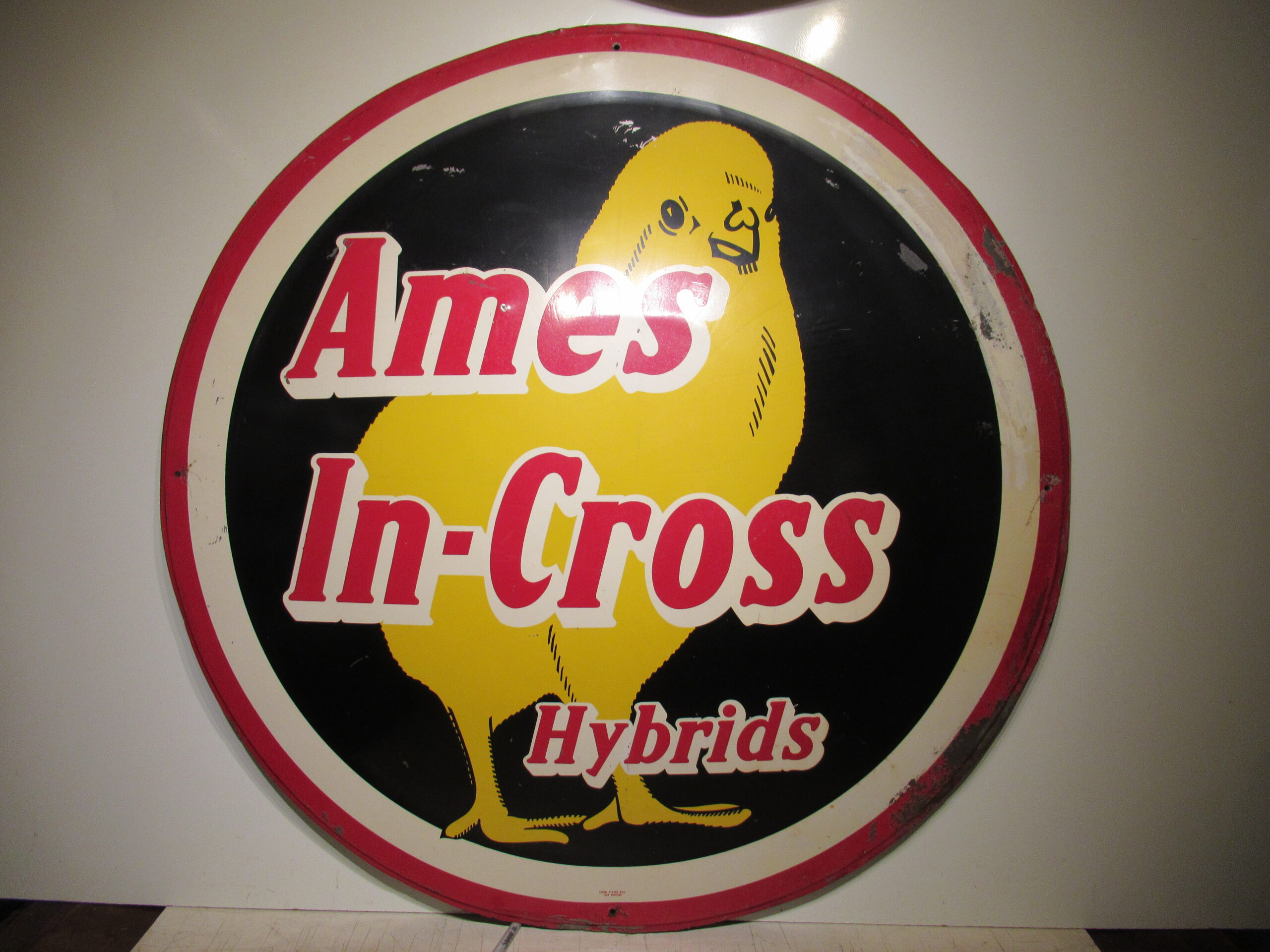 43″ Ames In-Cross Hybrids 1950 Painted Sign