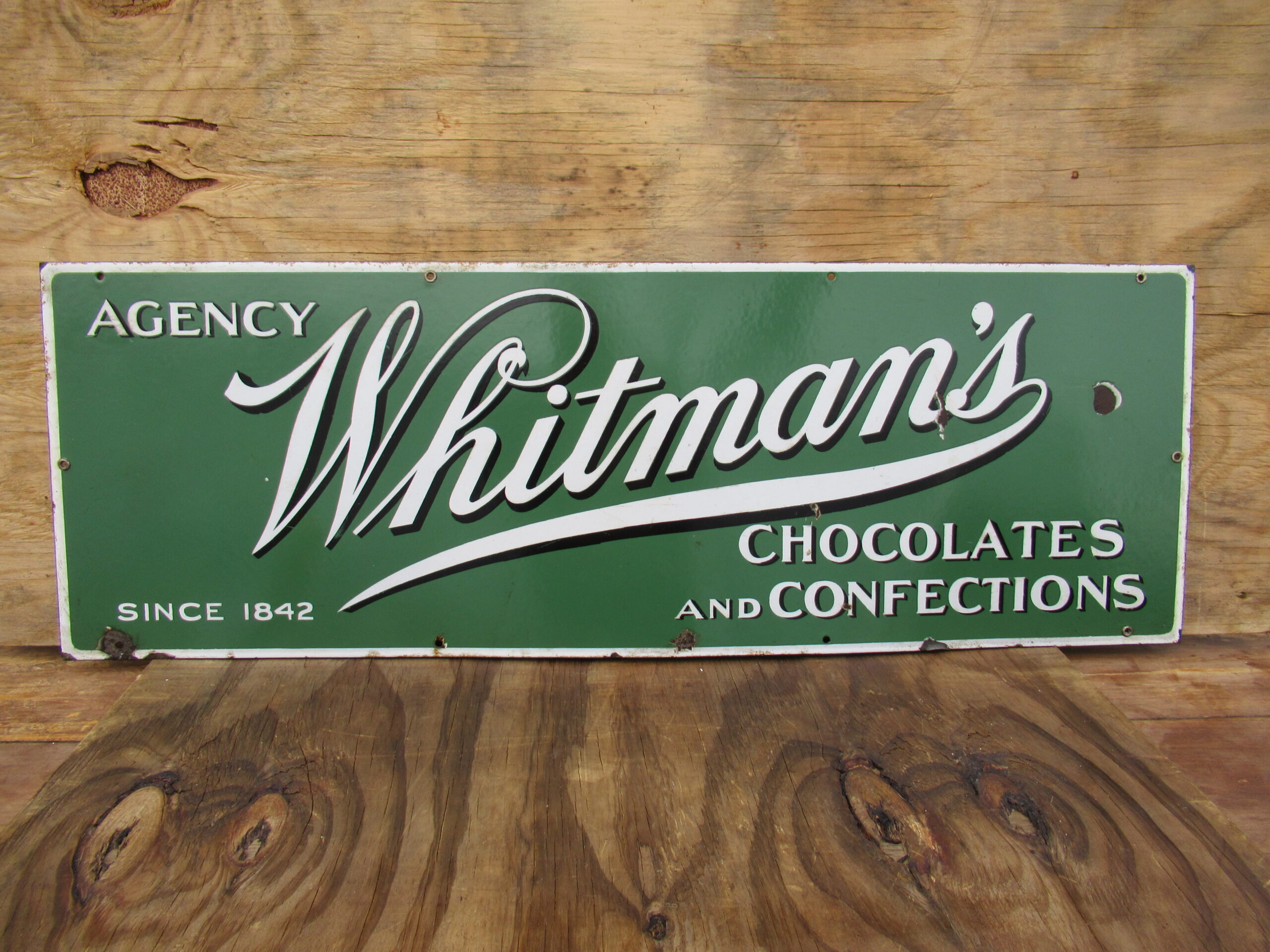 14×40 SSP 1930 Whitmans Chocolate Porcelain Sign