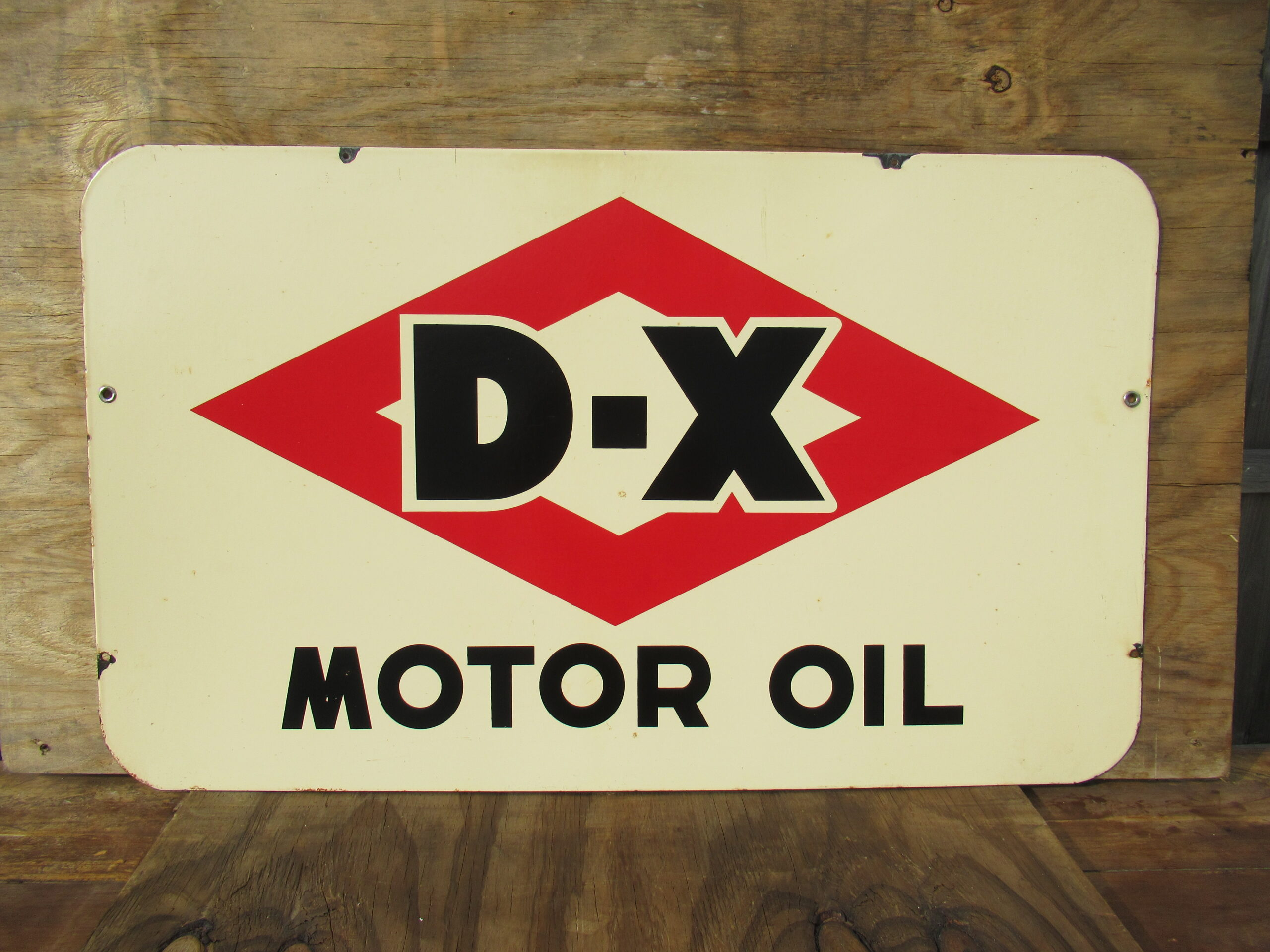 24×40 DSP 1930 D-X Motor Oil Porcelain Sign Mint!