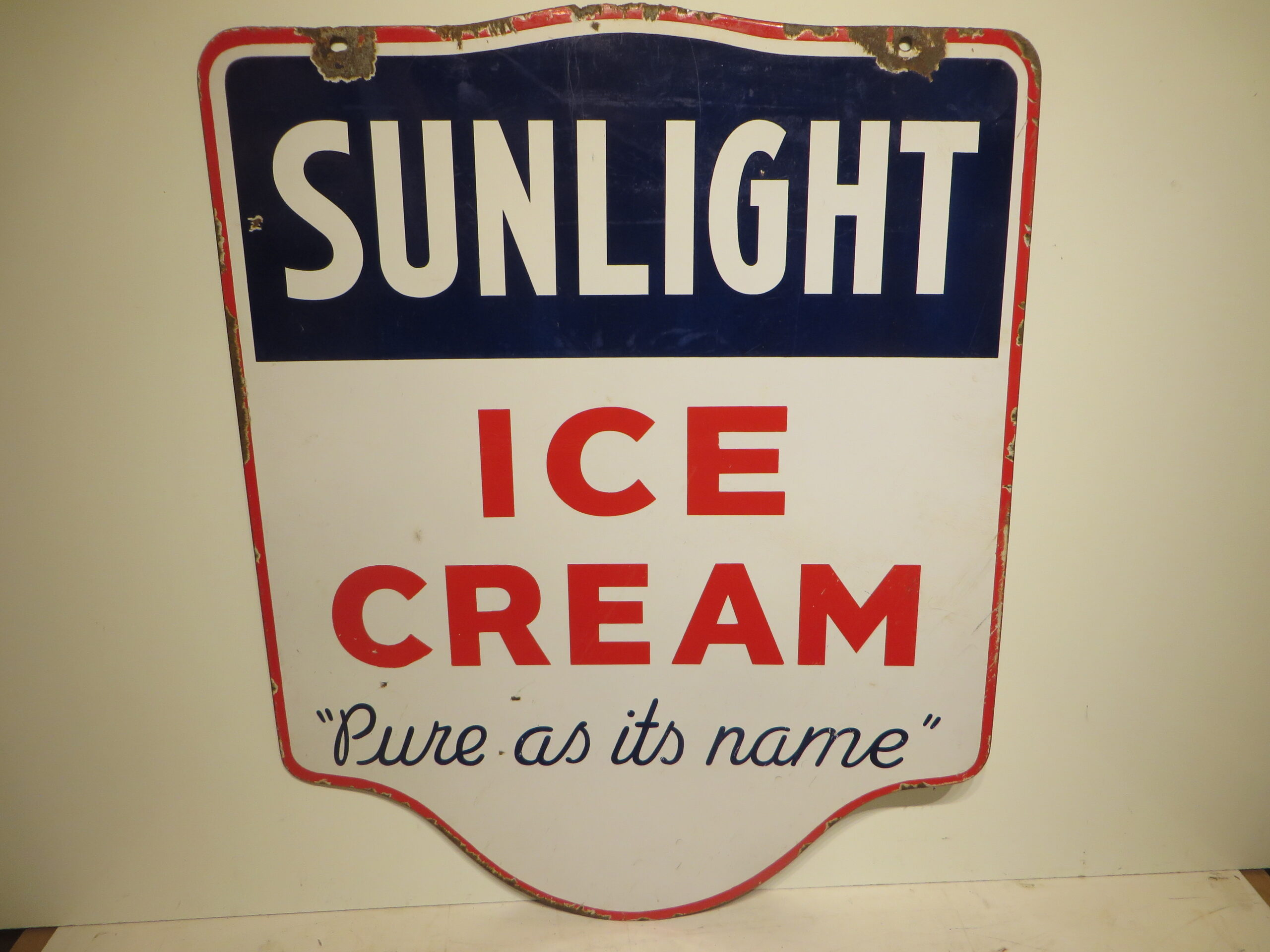 30×24″ DSP 1930 Sunlight Ice Cream Porcelain Sign