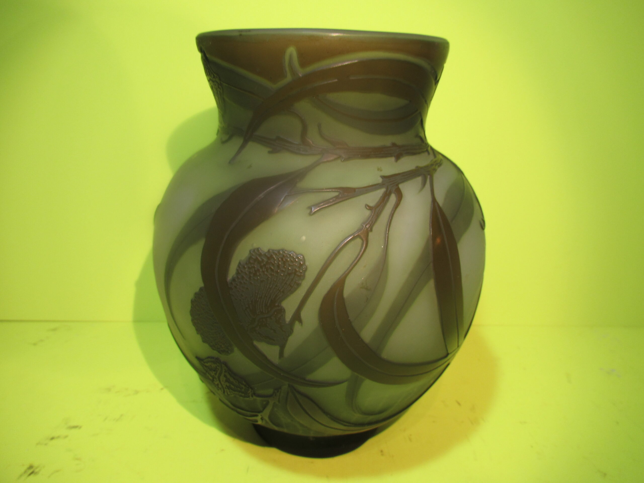 7.5×6 Green Global Galle Vase