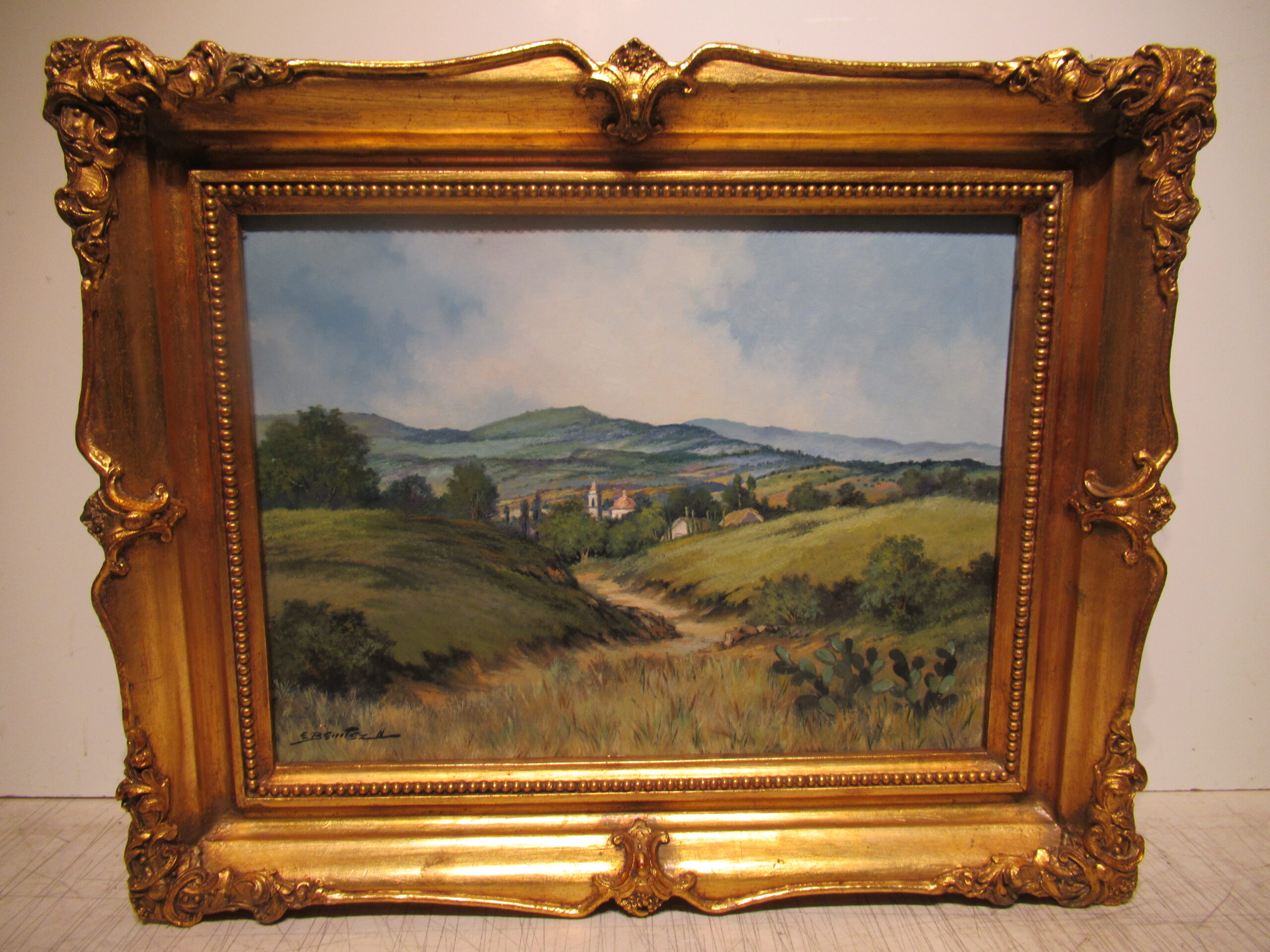 12×16 Enrique Binitez 1960 Landscape Oil Painting