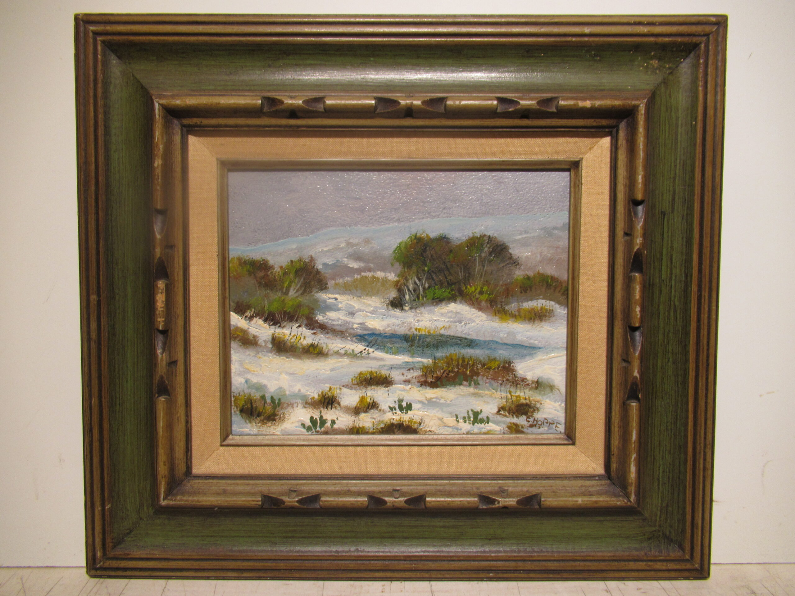 8×10 Carl Hoppe 1950 Bracken, Tx. Oil Painting