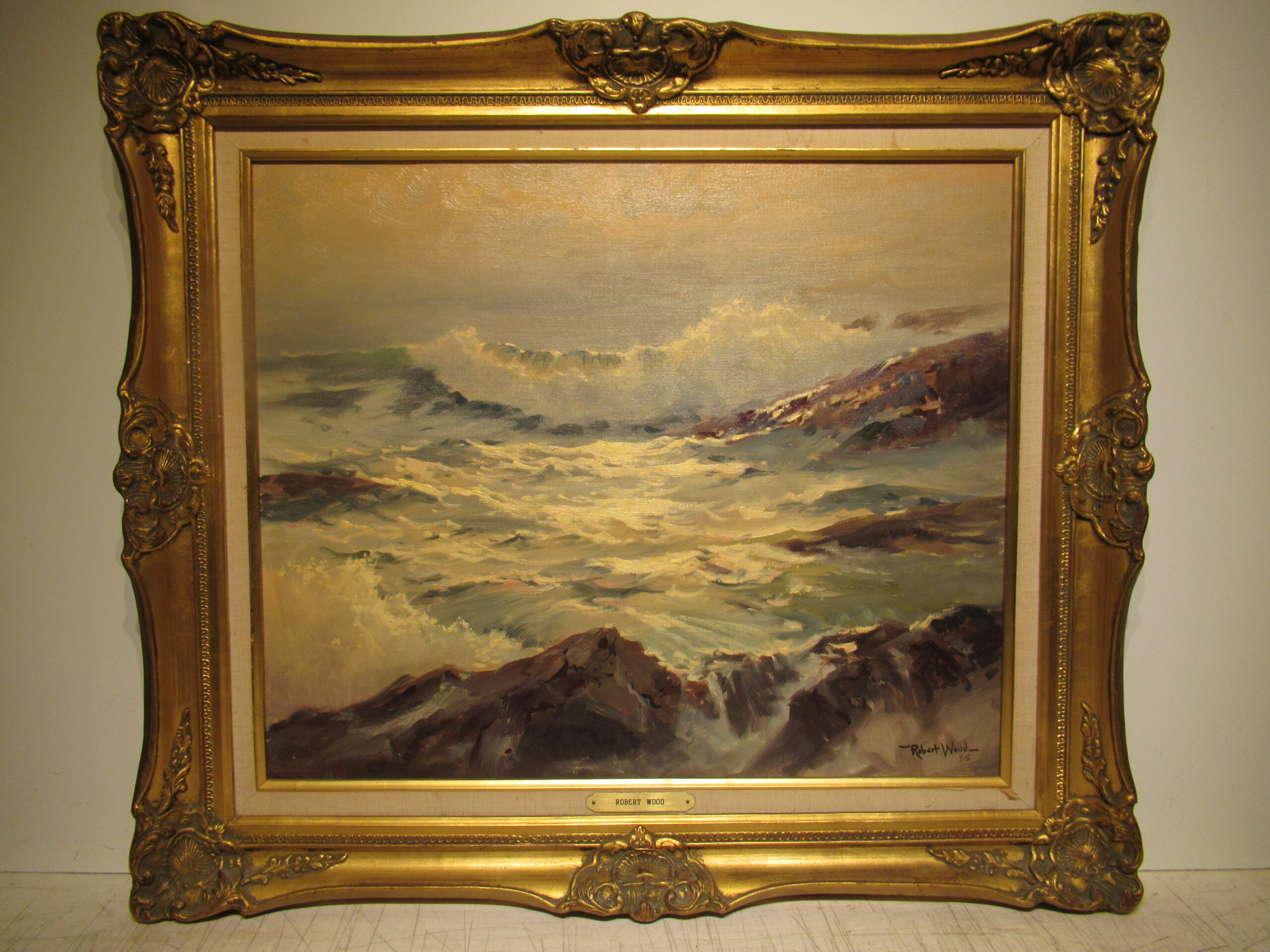 20×24 Robert Wood 1955 The Breaken Oil Painting