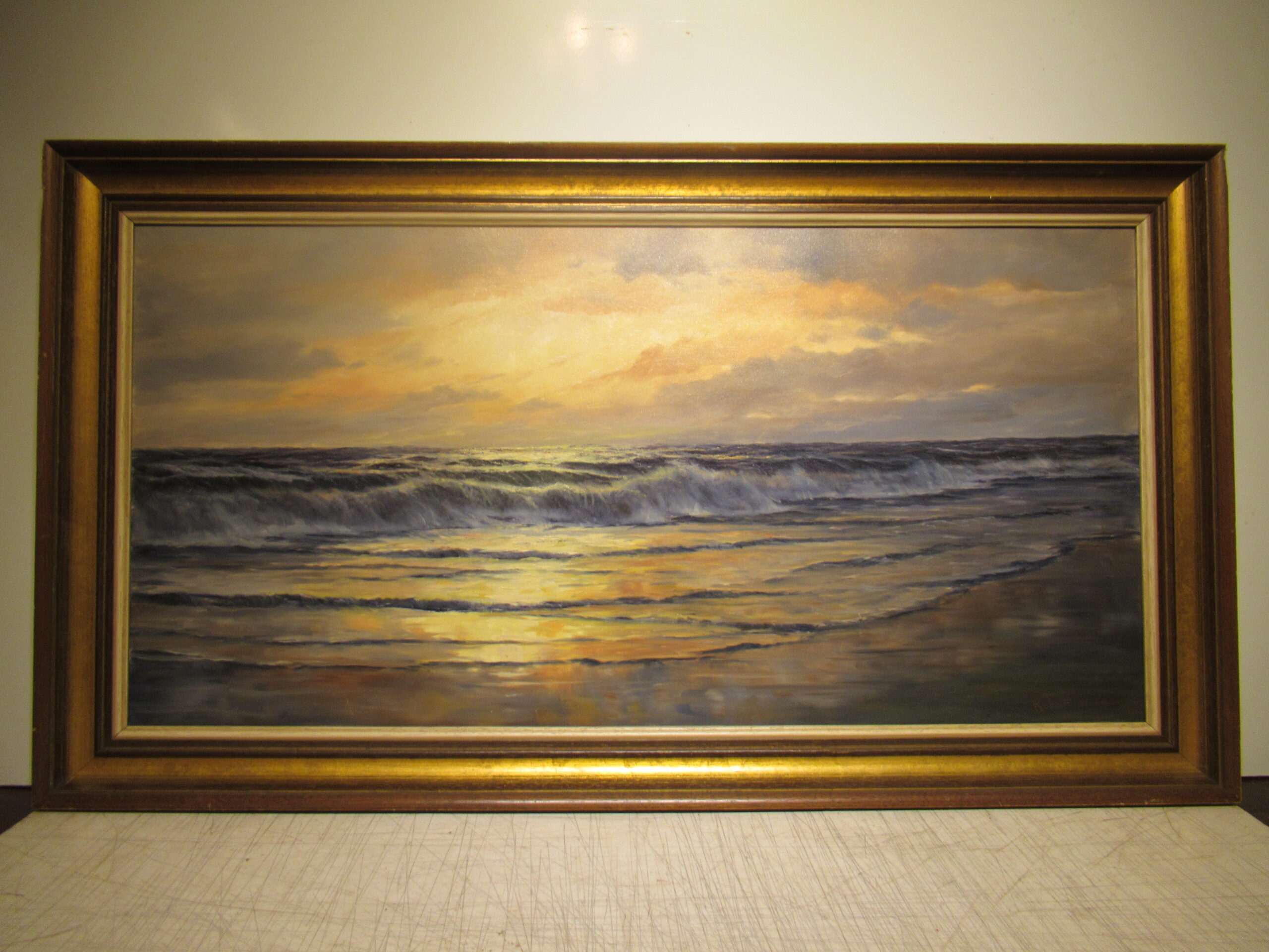 20×40 Robert Wood 1940 Laguna Beach Oil Painting