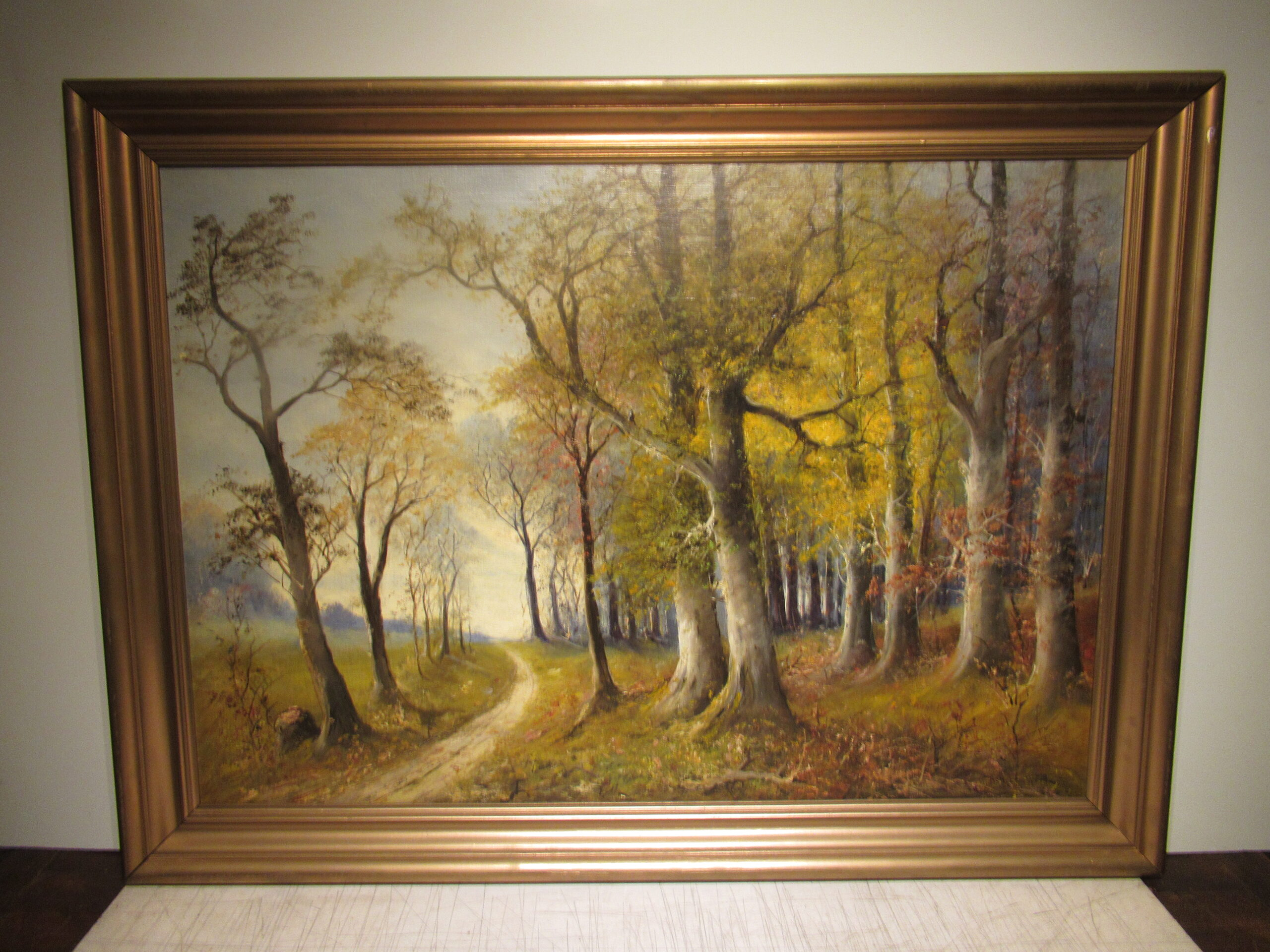 28×40 Robert Wood 1950 The Thicket Oil Painting