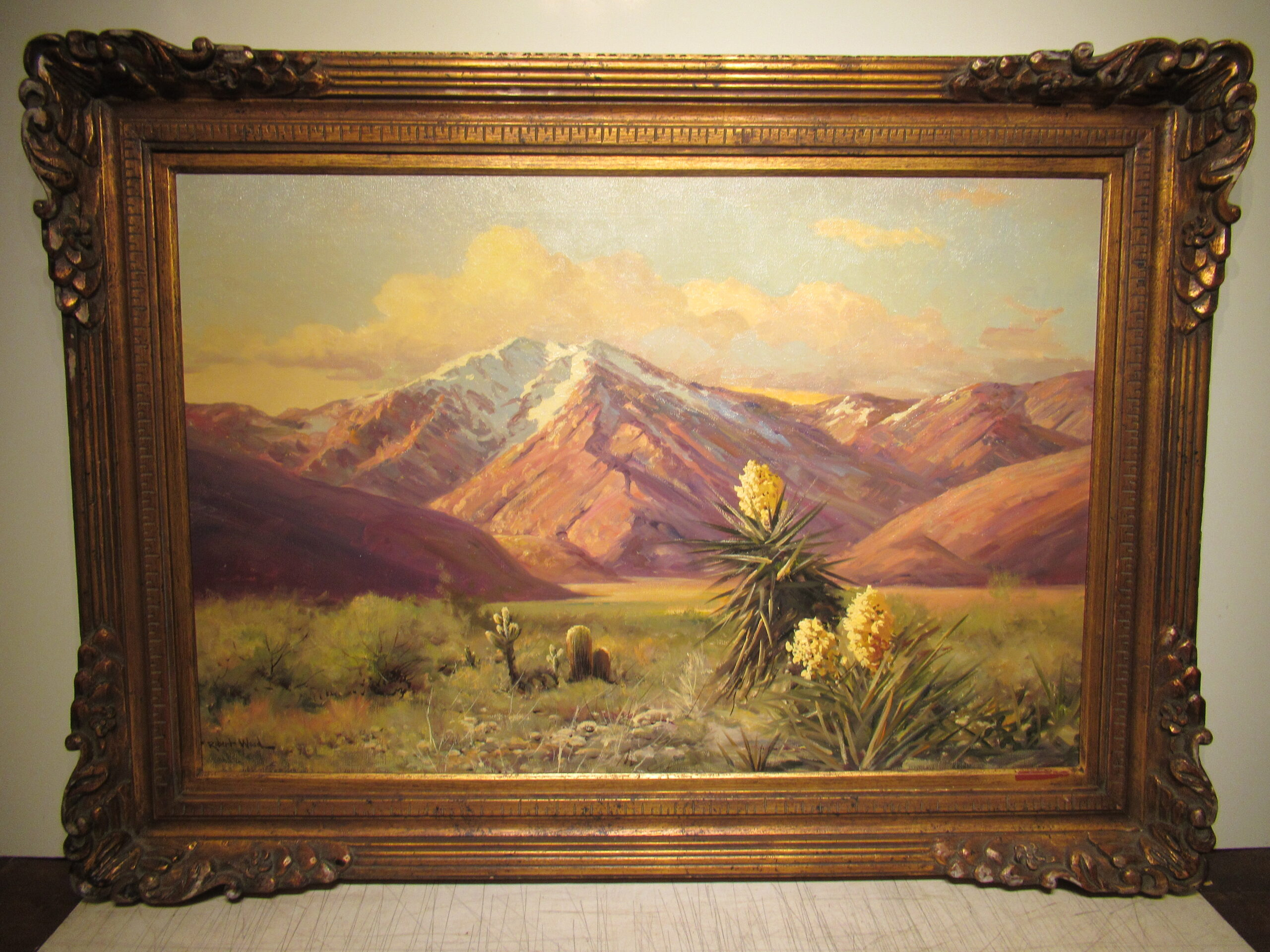 24×36 Robert Wood 1940 Calif. Desert Oil Painting