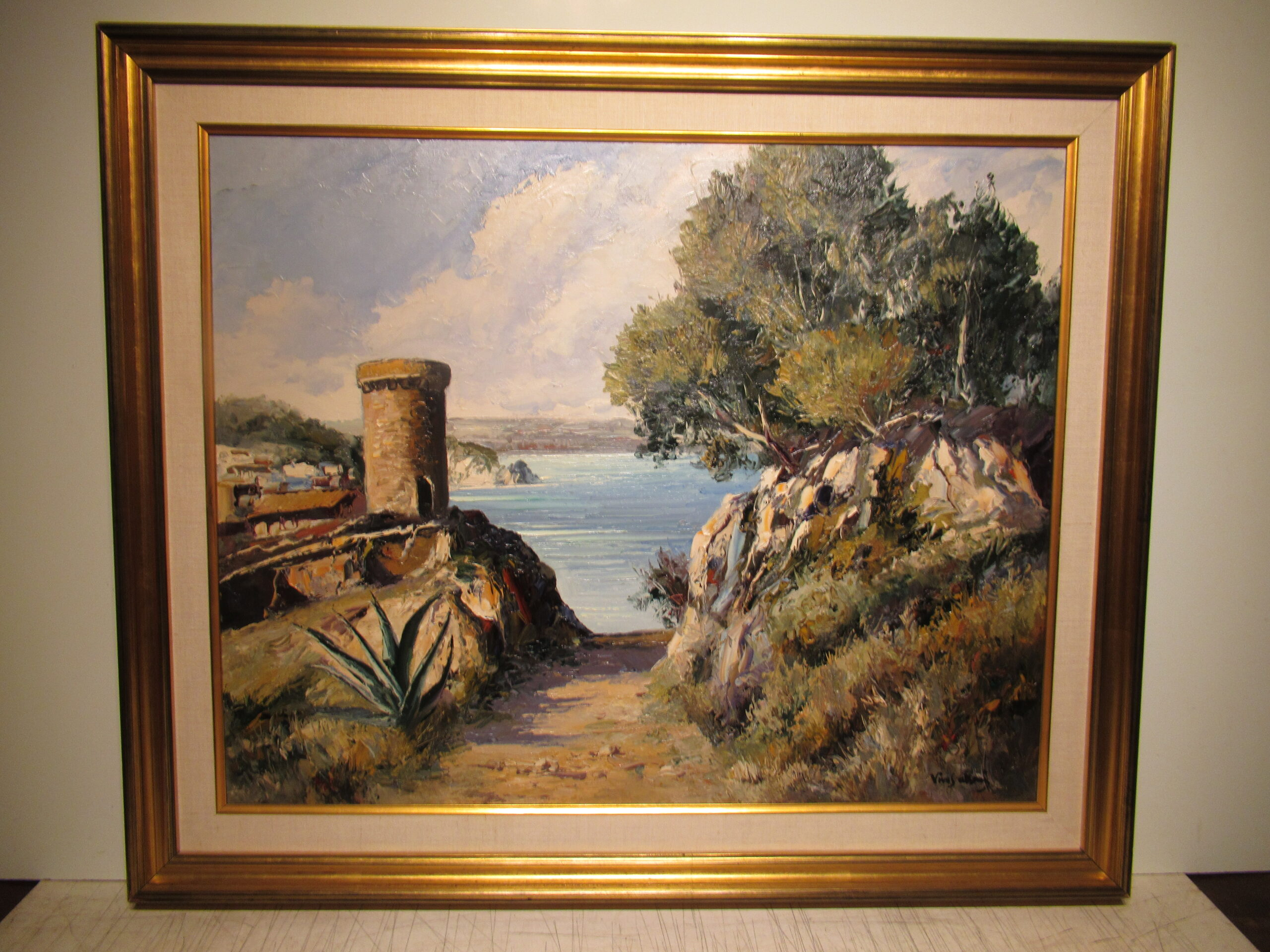 24×30 Vives Atsara 1962 Tossa de Mar Oil Painting