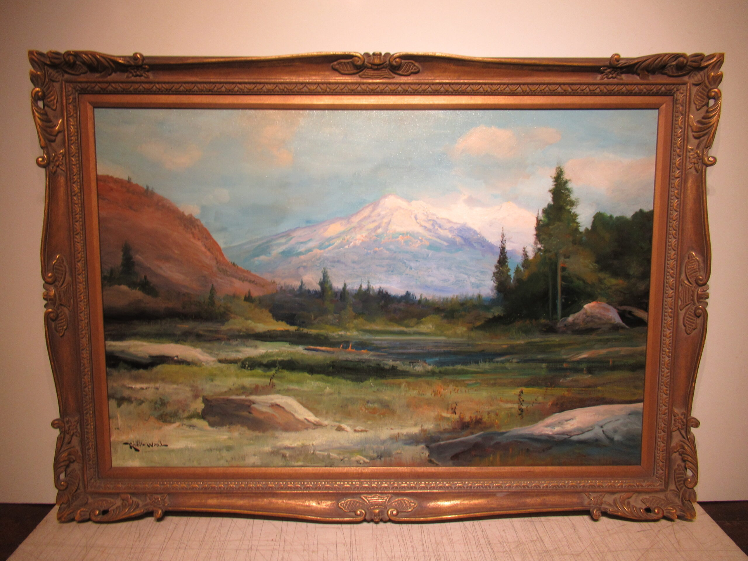 24×36 Robert Wood 1930 High Sierra Oil Painting