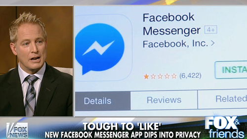 Privacy concerns over new Facebook Messenger App (Fox & Friends)