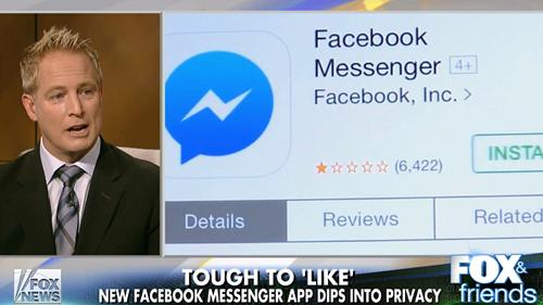 Privacy concerns over new Facebook Messenger App (Fox & Friends)