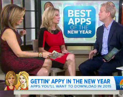 Kurt CyberGuy Knutsson - Best Apps for the new year-Today-Show with Kathie Lee and Hota Kotb