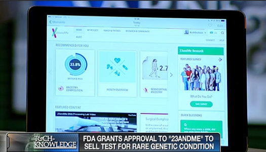 FDA Approves '23ANDME' for Genetic Testing Against Rare Conditions