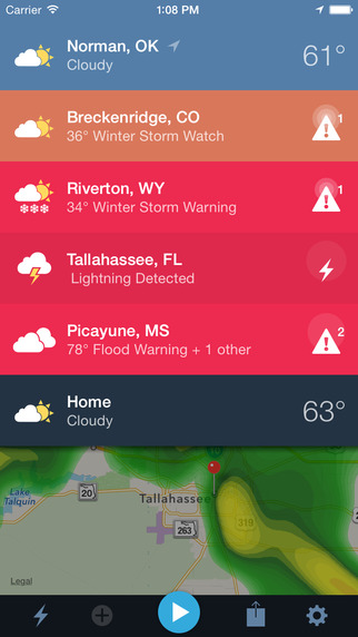 weather radio app and 6 Weather Apps that Could Save Your Life