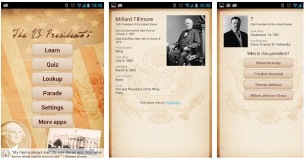 U.S. Presidents Android Apps On Google Play