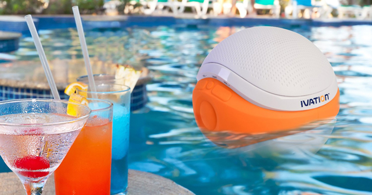 New Summer Tech Makes a Splash: Ivation Waterproof Bluetooth Swimming Pool Floating Speaker