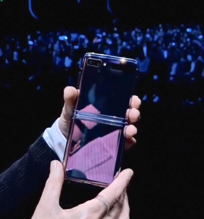 Yup, it's real. The Samsung folding phone is here.