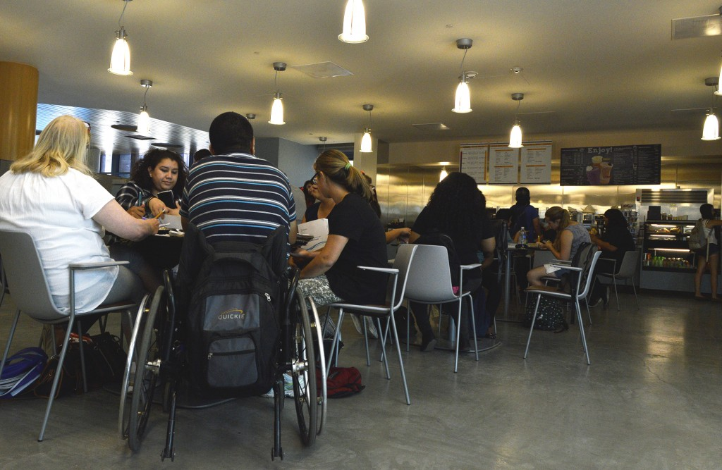 Students gather to study and eat in the Lovebirds Cafe at Pierce College in Woodland Hills, Calif., on Oct. 5, 2014. The lease is set to expire this December and there has been no words on whether they will renew or a replacement will be found. Photo: Laura Chen/Special to the Roundup