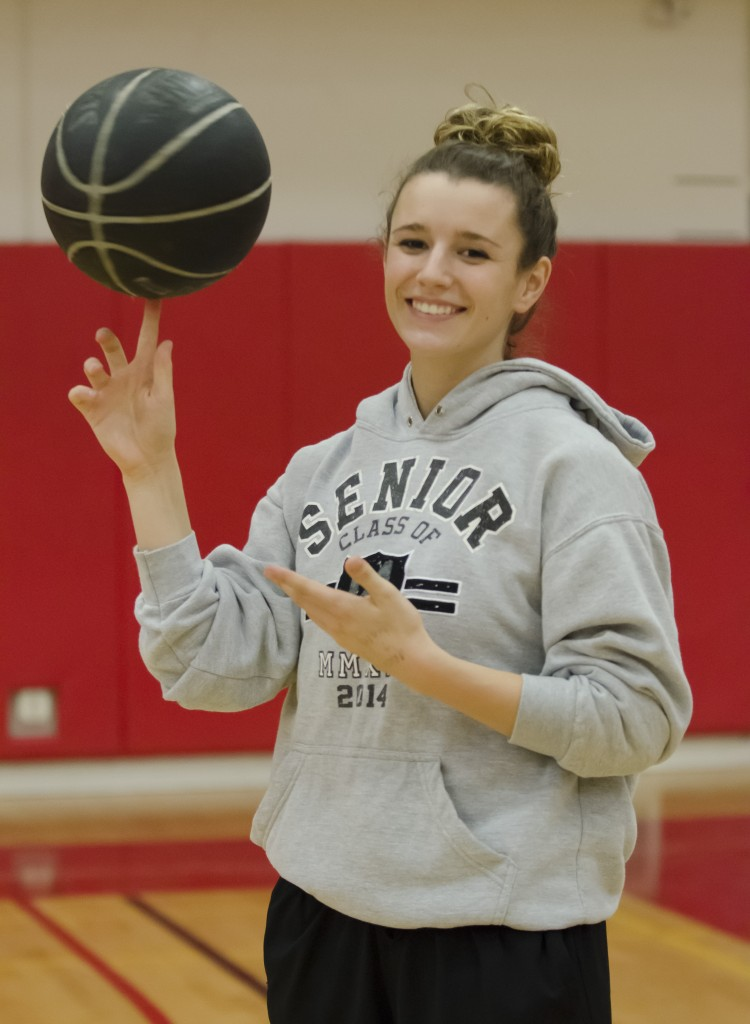 Vanessa DeSimone poses for a picture in the South Gym at Pierce College on Monday Dec. 1, 2014. Photo by David Paz