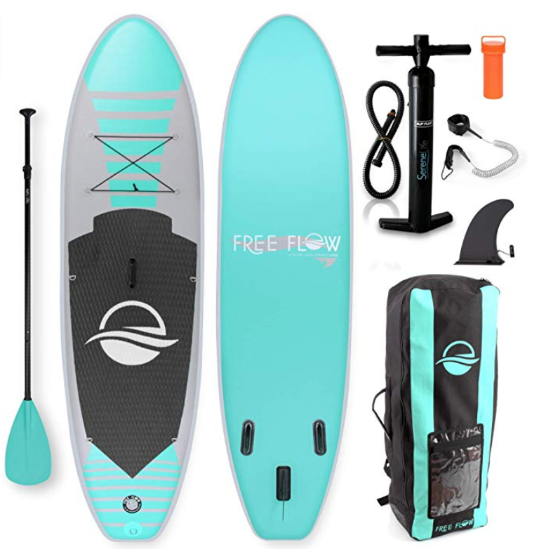 serenelife free flow paddle board review