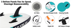 features of the acoway inflatable stand up paddle board