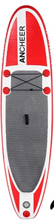 ANCHEER Inflatable Stand Up Paddle Board 10', Non-Slip Deck(6 Inches Thick), iSUP Boards Package w:Adjustable Paddle, Leash, Hand Pump and Backpack, Youth & Adult