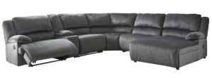 Clonmel Grey Recliner Sectional RAF Chaise 36505-40-57-19-77-46-07