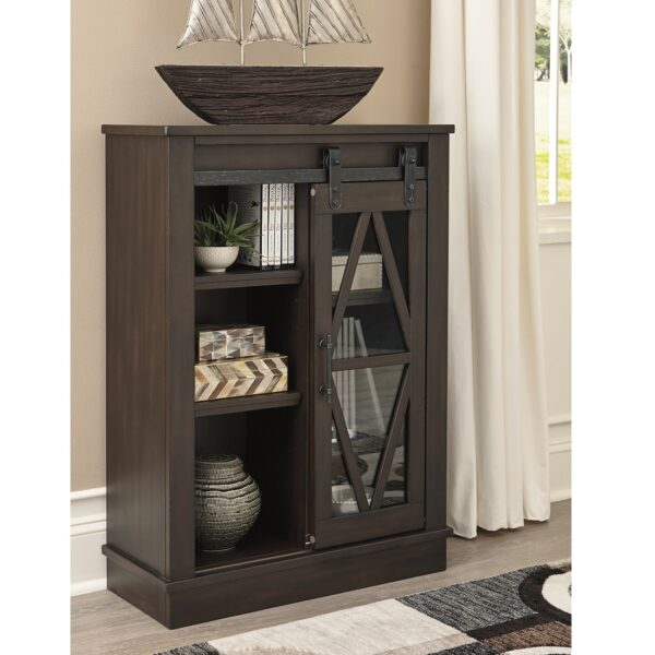 Bronfield Brown Accent Cabinet (Room View)
