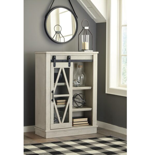 Bronfield White Accent Cabinet (Room View)