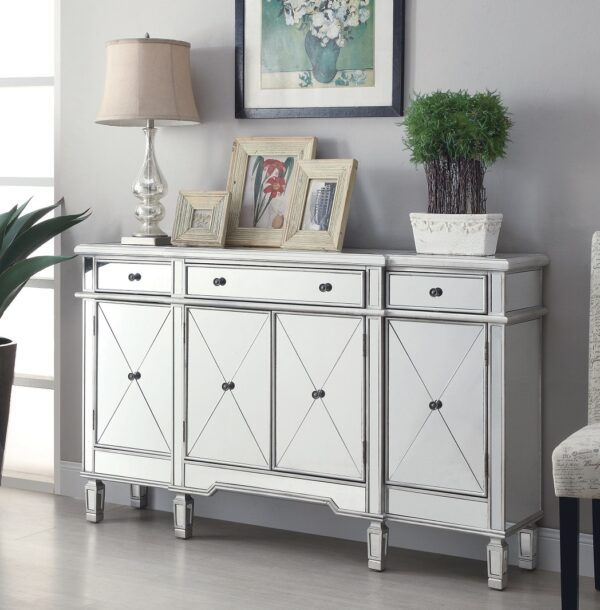 Bunburry XL Mirrored Accent Cabinet (Room View)