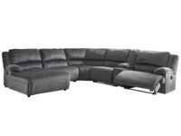 Clonmel Charcoal 6-Piece Recliner Sectional With LAF Chaise ASLY 36505