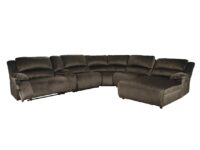 Clonmel Chocolate 6-Piece Recliner Sectional with RAF Chaise ASLY 36504-58-57-19-77-46-97