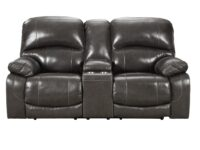 Hallstrung Gray Power Recliner Loveseat (Front View) ASLY U5240318