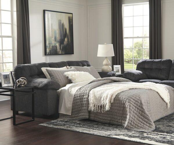 Accrington Granite Queen Sofa Sleeper (Room View Open Bed)