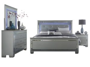 Allura Grey LED Bedroom Set AGA 1916