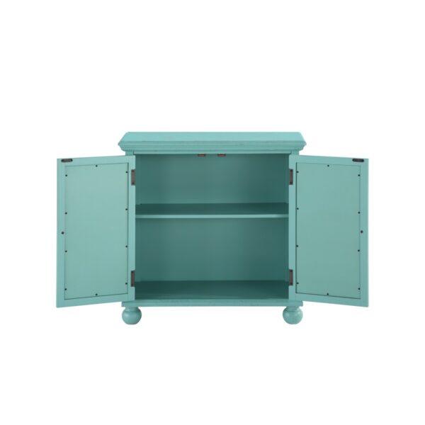 Colusa Aqua Accent Cabinet (Open)