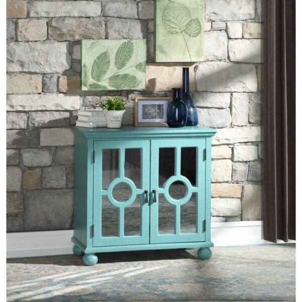 Colusa Aqua Accent Cabinet (Room View)