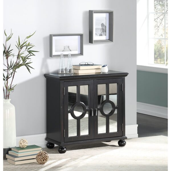 Colusa Black Accent Cabinet (Room View)