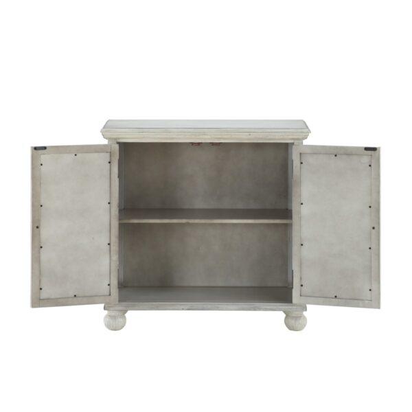 Colusa White Accent Cabinet (Open)