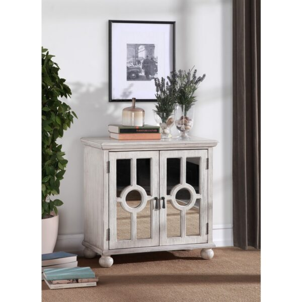Colusa White Accent Cabinet (Room View)