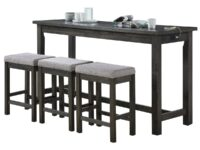 Connected Grey 4-Piece Counter Dining Set AGA 5713GY