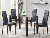 Florian Black 5-Piece Dining Set (Room View) AGA 5538BK