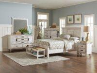 Franco Antique White 4-Piece Bedroom Set CST 205331