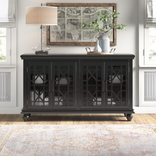 Grondin Black Accent Cabinet (Room View)