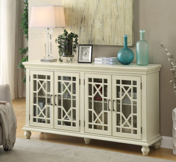 Grondin White Accent Cabinet (Room View)