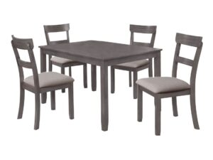 Henderson Gray 5-Piece Dining Set CR 2254SET-GY