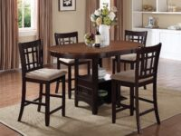 Lavon Chestnut 5-Piece Counter Dining Set CST 105278 (Room View)