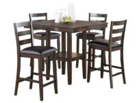 Tahoe Brown 5-Piece Counter Dining Set CR 2630SET