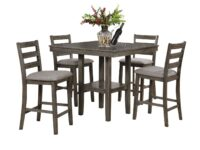 Tahoe Gray 5-Piece Counter Dining Set CR 2630SET-GY